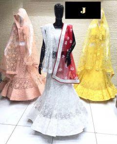 Jashikthaindustries Fashionable & Beautiful Lehenga Choli For Women's (Butter Crape Fabric)