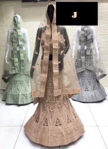 Jashikthaindustries Stylish Beautiful Lehenga Choli For Women's (Dupatta Fabrics: Butterfly -Net)