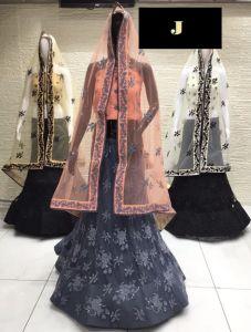 Jashikthaindustries Stylish & Fashionable Beautiful Lehenga Choli For Women's (Mono-Net Dupatta Fabric)