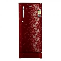 Whirlpool WDE 205 ROY 190 Liters 3 Star Rated Direct Cool Technology Single Door Refrigerator with Stabilizer Free Operation   Auto Connect To Home Inverter   Insulated Capillary Technology & Laminar Airflow (Maroon)