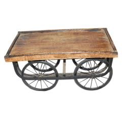 Wooden Traditional Hand Cart|Rehdi|Thhela As a Antique Showpiece Mango wood engineered wood composite