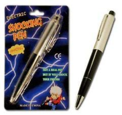 Electric Shock Pen Toy (When they push down they get a electric shock) Shocking pen harmless prank (2 Pieces)