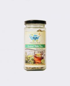 Vijaya 100% Herbal & Natural Teas Herbal Tulsi Tea Immune, Boosts Stamina and Treats Cold & Cough with Jar 50 Gms