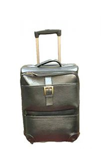 Elegant Exclusives Leather Accessories Expandable Lightweight Durable Hard-shell with 4 Wheels Ideal for Cabin Size Luggage | Trolley Bag | Travel Accessory (46 Ltr)