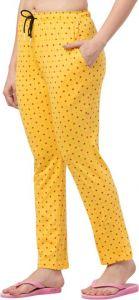 Women's Regular Fit Printed Dots Hosiery Trousers