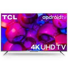TCL 2020 Model P715 4K Ultra HD Certified Android Smart LED TV with Hands-Free Voice Control | Ultimate Viewing Experience | Rich Color Expansion | Micro dimming | Dolby Audio (55 inches, Silver)