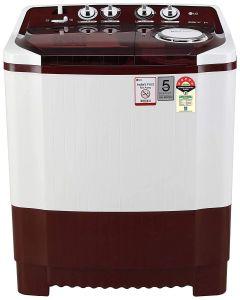 LG P8035SRMZ 8Kg 5 Star Energy Efficient Semi-Automatic Washing Machine with Collar Scrubber (Burgundy)