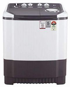 LG P8030SGAZ 8kg 5 Star Energy Efficient Semi-Automatic Washing Machine with Roller Jet Pulsator (Dark Grey)