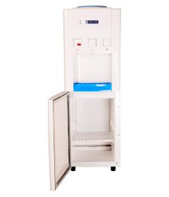 Blue Star Floor Mounted 3 Taps Normal, Hot or Cold Water Dispenser Standing Type with Refrigerator (White and Blue)