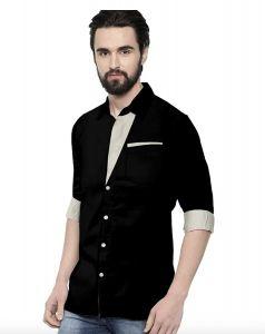 Peppyzone Men's Stylish & Regular Casual Full Sleeves Shirt (Pack of 1)