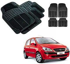 After Cars Black Carpet Floor/Foot 4D Rubber Mats for Hyundai Getz Car