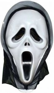 PTCMART Ghost Halloween Mask White For Party Costumes (Pack of 1)