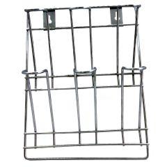 Vaishvi Stainless Steel Wall Mounting 6 Glass Holder for Kitchen Storage Organizer