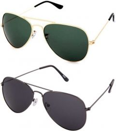 Trendy & Cool UV Protection Aviator Sunglasses (Free Size) (For Boys) (Pack Of 2)