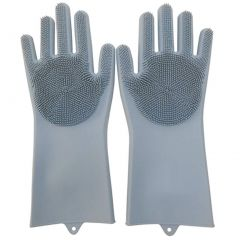 NAIN Magic Silicone Cleaning Hand Gloves for Kitchen Dishwashing, Pet Grooming & Bathroom