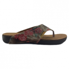 Grace Comfort Flip-Flop Chapple/Slipper For Women (Brown)