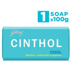 Cinthol Original Bath Soap Protect form Dust & Pollution, 99.9% Germ Protection (100g) | (Pack of 1)