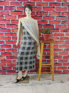 WACA Stylish & Trendy Full Sleeves Unstitched Khadi Silk Suit Piece With Chikankari Embroidery for Women's (Pack of 1)   (Color: Grey)