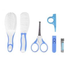 Baby Grooming Kit Nail Clipper Tool Includes Clipper, Scissors, Hair Brush Comb for Newborn Baby Kids