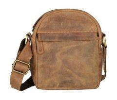 ASPENLEATHER Messenger Bag In Genuine Crunch Leather (Brown)