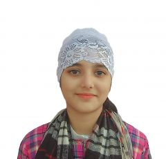 Hejabiya Self Design Cotton Lace/Net, Under Hijab Headband underscarf cap for women White Color Cap
