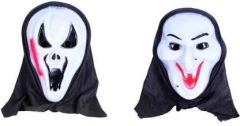 PTCMART Halloween Ghost Snake And Funny Look White Face Cover Mask Party Mask(Multicolor, Pack of 2)