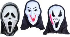 PTCMART Halloween Ghost Snake, Funny And long Desgin Party Mask (White, Pack of 3)