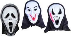 PTCMART Halloween Scary Ghost Face Mask For Play Role And party Party Mask(White, Pack of 3)