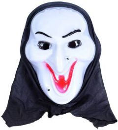 PTCMART Halloween Smile Funny Look Theme Party Mask Party Mask(White, Pack of 1)