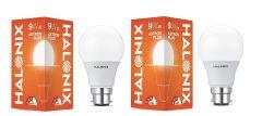 Halonix B22 Astron Plus 9-Watt Cool White Led Bulb (Pack of 2)