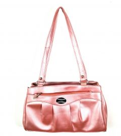 Stylish Artificial Leather Casual Shoulder Bag For Women's (Pink)b