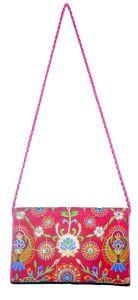 BAGO Fabric Fashionable and Stylish Sling Bag For Women's (Orange) (Pack of 1)