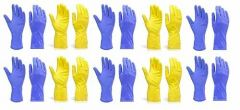 Reusable Rubber Hand Gloves for Cleaning Different Color Will Be Ship (Multicolor) (Pack of 10 Pair)