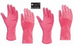 Stretchable Reusable Cleaning Rubber Hand Gloves for Washing Cleaning Kitchen Garden (2 Pair)