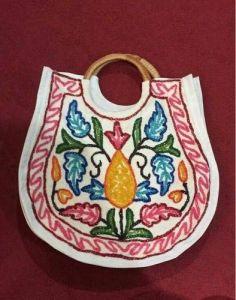 Kashmiri Handmade Crewel Embroidery Hand Bag