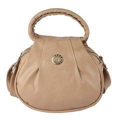 Design & Stylish PU Leather Latest Fashion Sling-Handbag For Women & Girls (Beige)