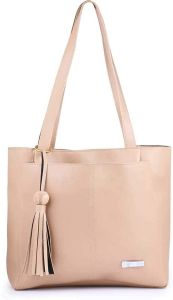 Stylish & Fancy Leather Handbags 2 Compartments With Top Zipper Closure For Women & College Girls