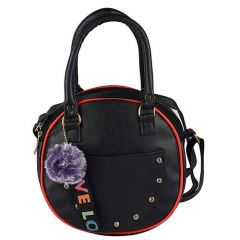Stylish & Fancy PU Leather Latest Fashion Sling-Handbag, 2 Compartments With Zipper For Women & Girls