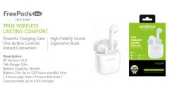 Oraimo True Wireless Bluetooth OEB-E98D Lasting Comfort with Mic (White) (Pack of 1)