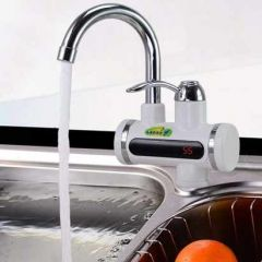 Heater Faucet Tap Kitchen Bathroom Digital Display With Shower Head