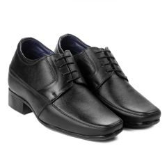 Bxxy's 9 cm (3.5 Inch) Height Increasing Dress Shoe Derby Lace-Up Formal Faux Leather Shoes