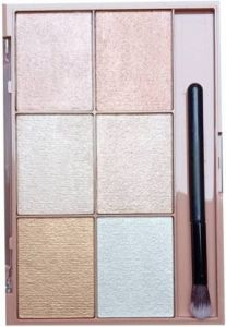 Flikerway All Skin Type Total Effect Highlighter Palette 40g (Shade 01) (Pack of 1)
