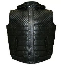 Aspenleather Franchise Club Hooded Leather Vest