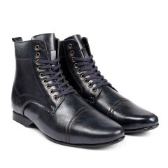 BXXY 3 Inch (7.6 cm) Height Increasing Formal And Casual Faux Leather Lace-up Boots for All Occasions (Instant 3 Inches Hidden Height Gainer)