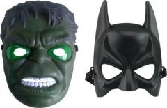 PTCMART Hulk And Batman Shape Design Face Mask For Party And Play Role Party Mask(Pack of 2)