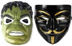 PTCMART Hulk And Vendetta Comic Face Mask For Party And Play Party Mask(Pack of 2)