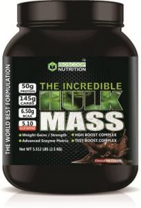 Isoscoop Nutrition Hulk Mass Weight Gains/Strenth Advanced Enzyme Zatrix HGH Boost Weight Gainers/Mass Gainers  (2.5 kg, Chocolate Cream)