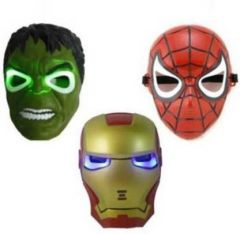 PTCMART Hulk With led Light, Spiderman With light And Iron man Party Mask  (Multicolor, Pack of 3)