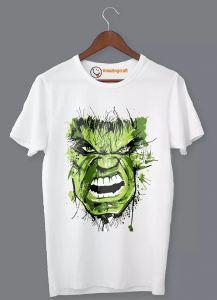 Frndmart Stylish & Fashionable Hulk Round Neck Printed T-Shirt For Men's (White)