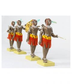 Simonart and Printing Terracotta Figurines Showpiece Clay Tribal Hunter GroupFor Home Decoration (Multi-Color) (Pack of 1)